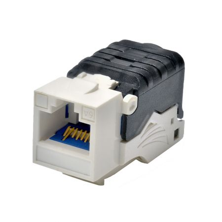 Category 6A - Cat6A Component Level 90° UTP Toolless Keystone Jack