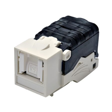Category 6A - Cat6A Component Level 90° UTP Toolless Keystone Jack with Shutter