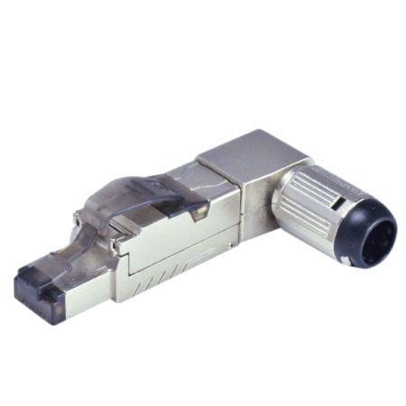 Cat 8.1 STP Angled Field Termination Plug - Cat 8.1 STP Angled Field Termination Plug