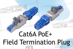 ISO/IEC Cat6A PoE+ Field Termination Plug