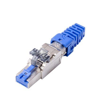 ISO/IEC Cat6A STP PoE+ Field Termination Plug