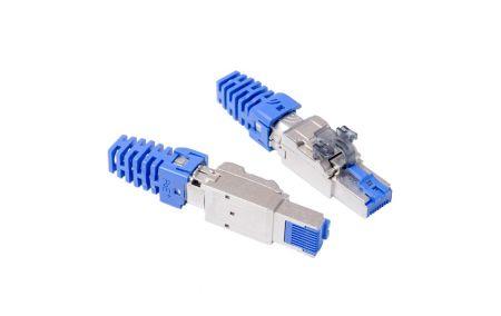STP Straight Type - ISO/IEC Cat 6A STP PoE+ Field Termination Plug