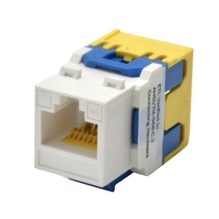 Cat 5e Level 180° UTP Punchdown Keystone Jack