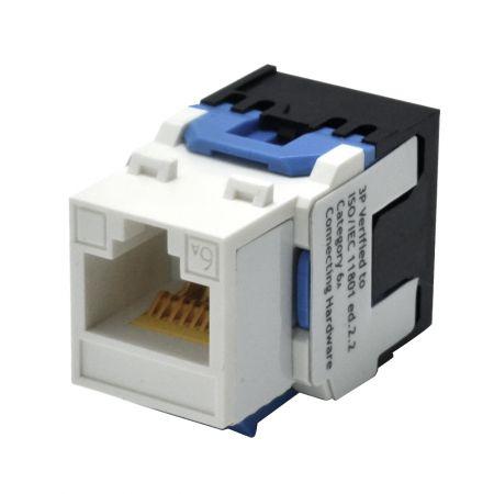 ISO/IEC Category 6A - 180° UTP Punchdown Keystone Jack