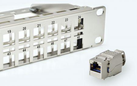 1U-48P Snap-in - 1U 48-Port High Density STP/UTP Snap-In Type Patch Panel