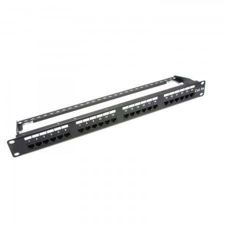 Patch panel modulare UTP a 24 porte 1U - Patch panel modulare UTP a 24 porte 1U