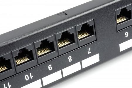 Unshielded Channel Compliant - 1U 24-Port UTP Modular Patch Panel