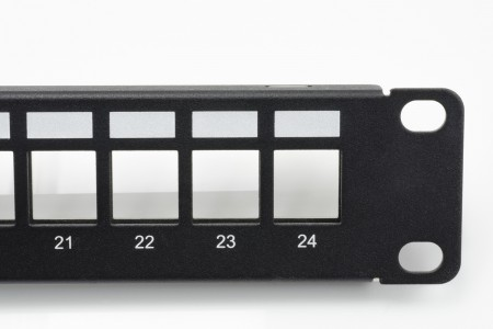 STP Blank Panel - 1U 24-Port UTP Snap-In Type Discrete Patch Panel with Icon