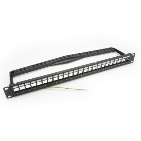 1U 24-Port UTP Snap-In Type Patch Panel dengan Ikon