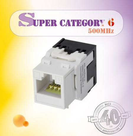 Super Category 6 Component Level 180° UTP Punchdown Keystone Jack