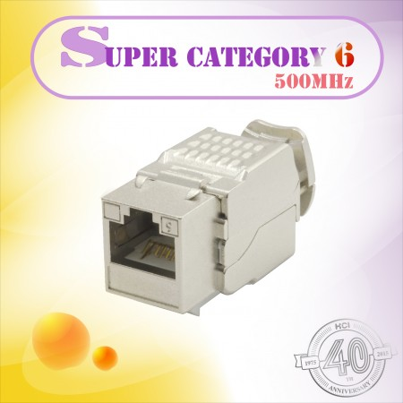 Super Category 6 مكون مستوى 90 ° STP Toolless Keystone Jack - Super Category 6 مكون مستوى 90 ° STP Toolless Keystone Jack