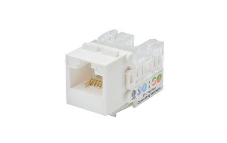 90゜3-Way Input - Cat 6A Component-Rated Adjustable Direction Keystone Jack