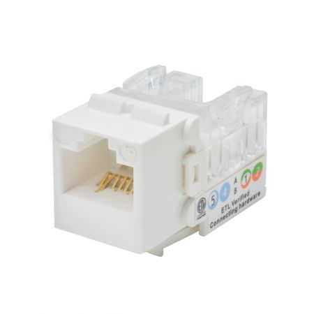 Cat 6A Component-Rated Adjustable Direction UTP Punchdown Keystone Jack - Cat 6A Component-Rated Adjustable Direction Keystone Jack