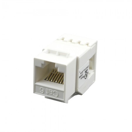 Cat 5e  180° UTP Punchdown Keystone Jack - Cat 5e 180° UTP Punchdown Keystone Jack