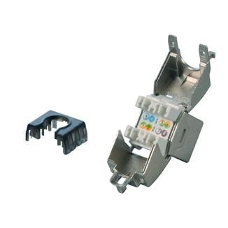 Cat 6A Component Level Die-cast 180° STP Punchdown Keystone Jack
