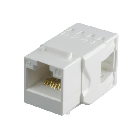 Cat 6 180° UTP Punchdown Keystone Jack