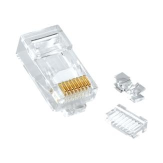 Multi-Piece Type RJ45 Plug for Cat 6A / Cat 6 UTP Cable