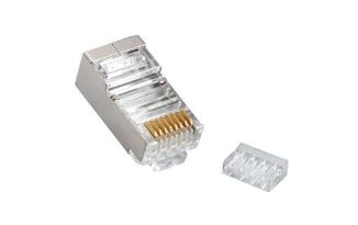 0028SF24 Series - Multi-Piece Type RJ45 Plug for Cat 6 STP Cable