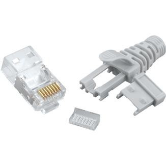 Multi-Piece Type RJ45 Plug for Cat 6A STP Cable