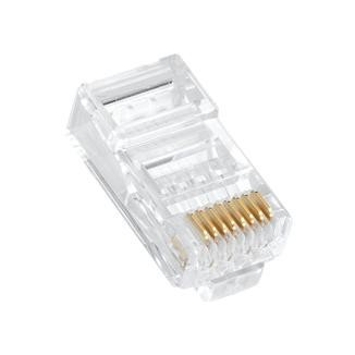 One Piece Type RJ45 Plug for Cat 6 / Cat 5e UTP Cable - Multi-Piece Type RJ45 Plug for Cat 6 / Cat 5e UTP Cable