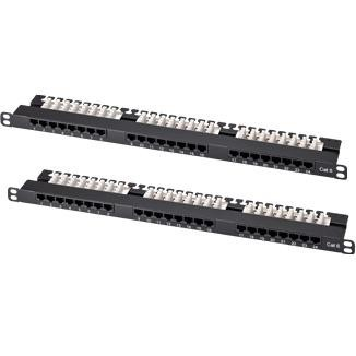 0.5U 24-Port High Density UTP Modular Patch Panel - 0.5U 24-Port High Density UTP Modular Patch Panel