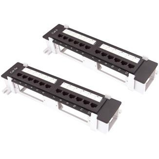 "Wall Mount Type 10"" 12-Port UTP Modular Patch Panel"