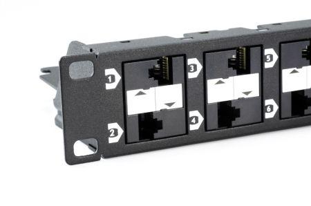 Unshielded Component Level - 1U 24-Port UTP Category 6A  Modular Patch Panel