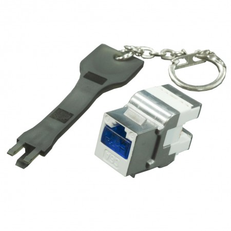 Secured Lock for RJ45 Keystone Jack and Patch Panel