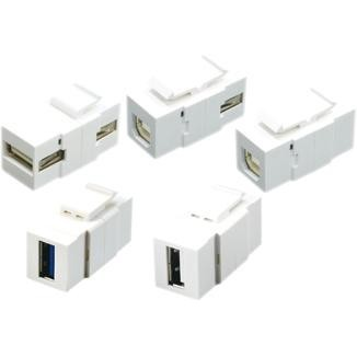 Horizontal Type 180° USB 2.0 / 3.0 Coupler
