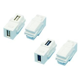 Vertical Type 90° USB 2.0 / 3.0 Coupler