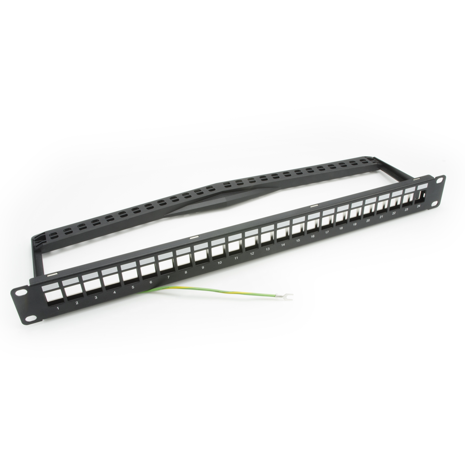 1U 24-Port UTP Snap-In Type Discrete Patch Panel with Icon