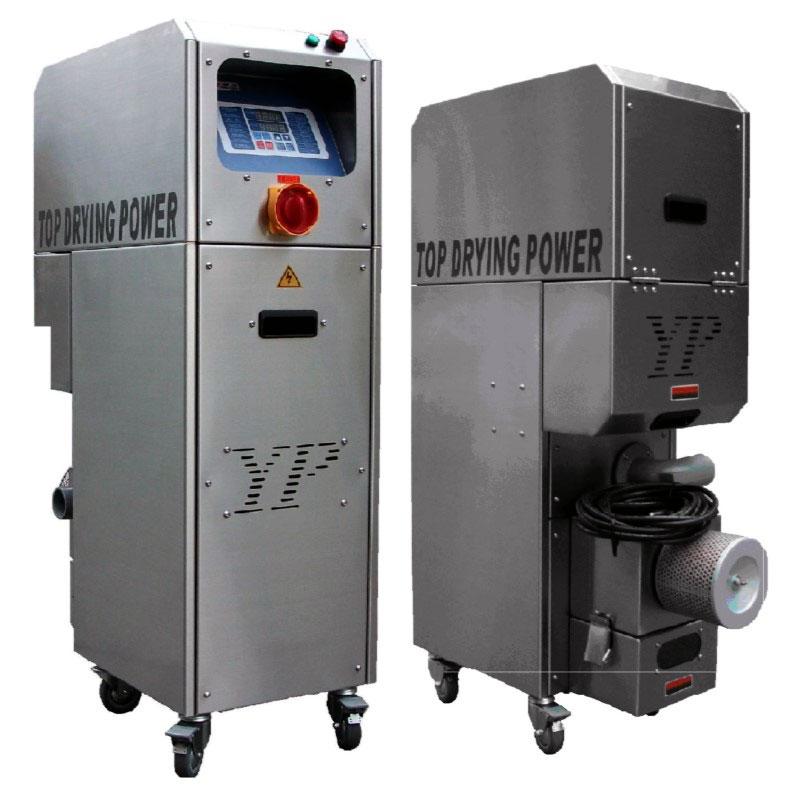 Auxiliary equipment - dehumidifying dryer for maintaining plastic drying