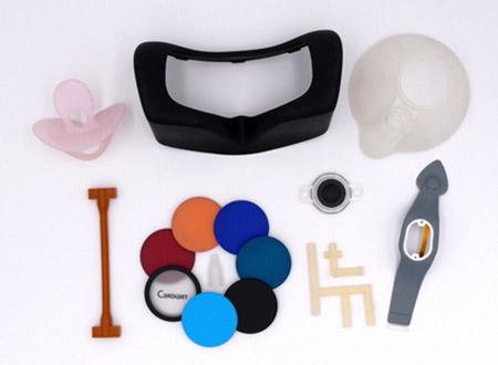 Silicone aplicado em peças médicas