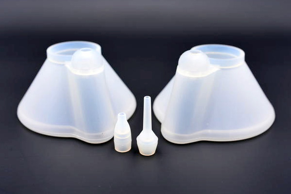 Silicone mask of Inhaled Corticosteroid & silicone nozzle of Nasal aspirator.