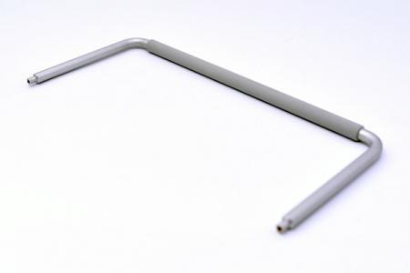 Borracha de silicone combinada com liga de alumínio.