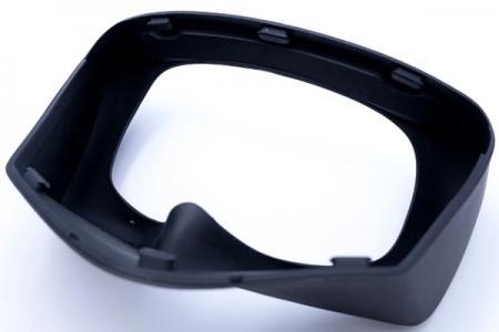 Silikonbrille kombiniert mit PC-Rahmen für medizinische Geräte.