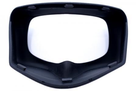 Die Spritzgusstechnologie kann Silikon- und Kunststoffrahmen kombinieren, um diese Silikonbrille zu erstellen.