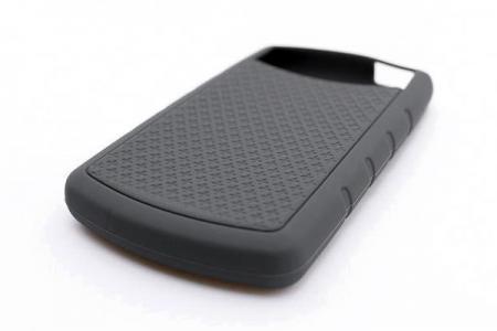 Funda protectora de silicona HDD personalizada con rombos.