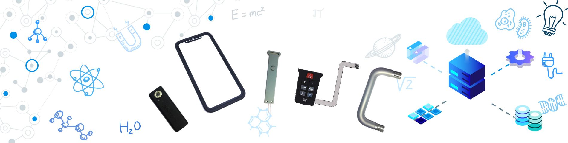 Silicone with Electronic Parts