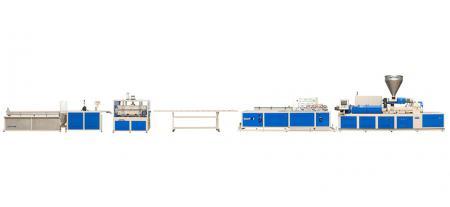 Экструзионная линия для производства профилей с двумя линиями - Экструзионная линия для производства профилей с двумя линиями