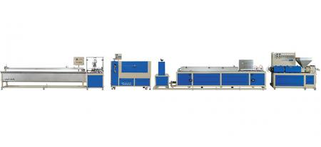 With on-line embossing unit