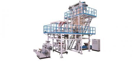 HDPE Masking Tape Plastic Sheet Making Machine with On-Line Folding Device