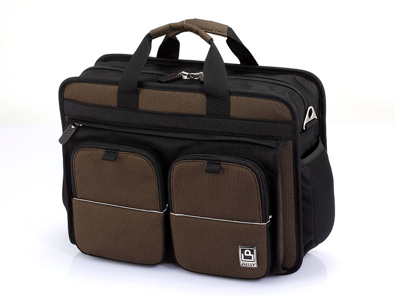 "15"" Laptop Briefcase with Magnetic Strap Pockets - 15"" Business Laptop Briefcase."