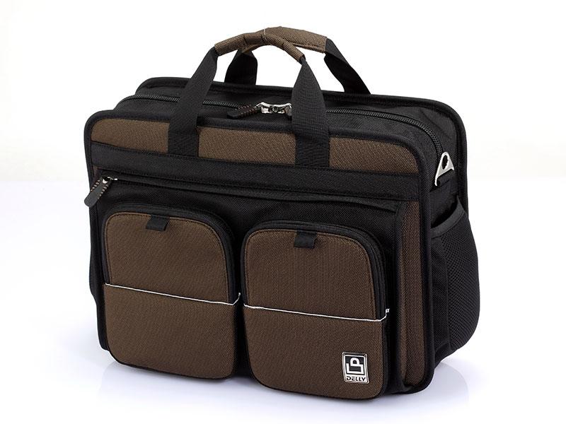 حقيبة كمبيوتر محمول مقاس 15 بوصة مع جيوب بحزام مغناطيسي - حقيبة كمبيوتر محمول للأعمال مقاس 15 بوصة.