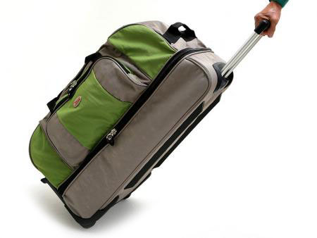 "Two Layer Trolley Travel Bag on Wheels - 26"" Two-Layered Foldable Travel Bag."