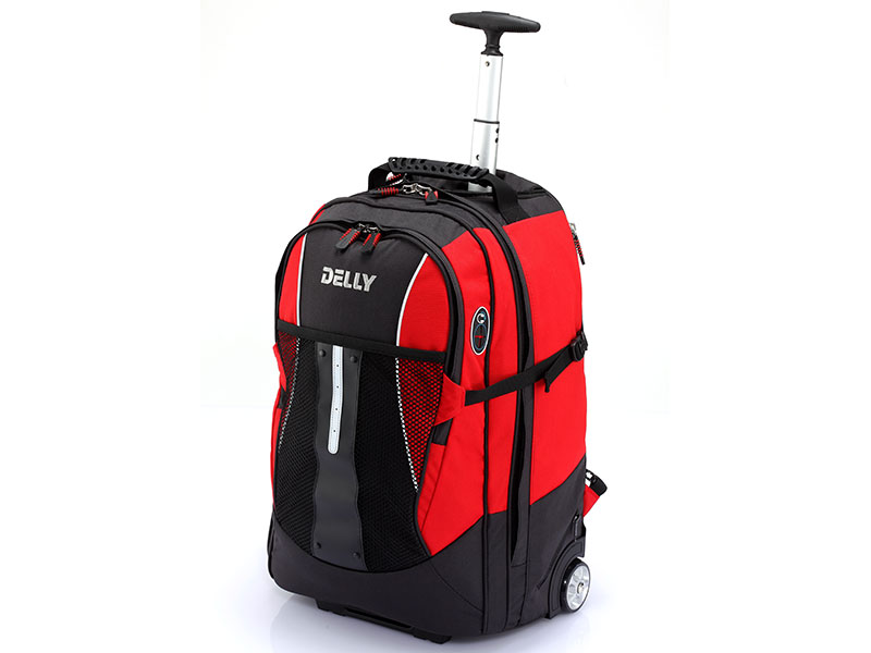 Carry-On Laptop Backpack with Wheels - Single pole carry-on laptop backpack.