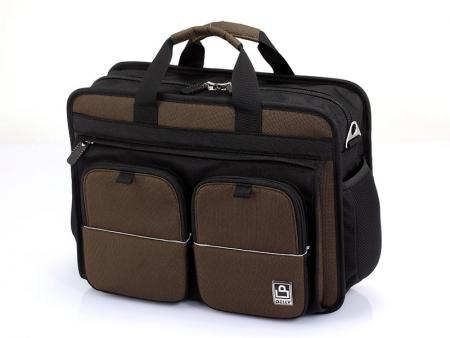 "15"" Laptop Briefcase with Magnetic Strap Pockets"