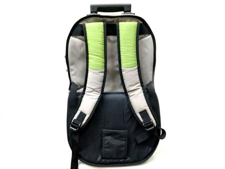 Main backpack's rear view.