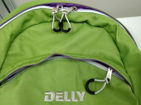 Modern zipper end tab design.