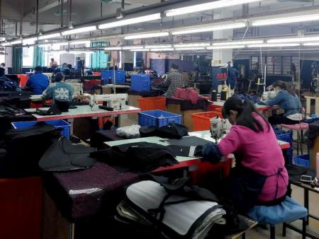 Production Department - Assembling and sewing together and the fabrics, running quality tests, and wrapping the products for shipping.